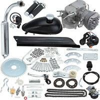 80cc Bike 2 Stroke Gas Engine Motor Kit Diy Motorized Bicycle Silver