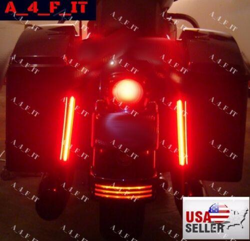 Universal RED Motorcycle Brake TURN Harley Davidson Sportster Streetbob LED VROD