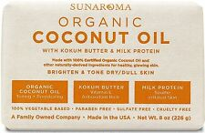 Sunaroma Hydrating Body Bar Soap Kokum Butter Milk Protein Coconut Oil 8 Ounce