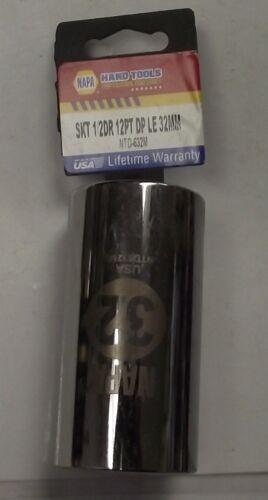 """Napa NTD-632M 1//2/"""" Drive 12pt 32mm Deep Socket USA"""