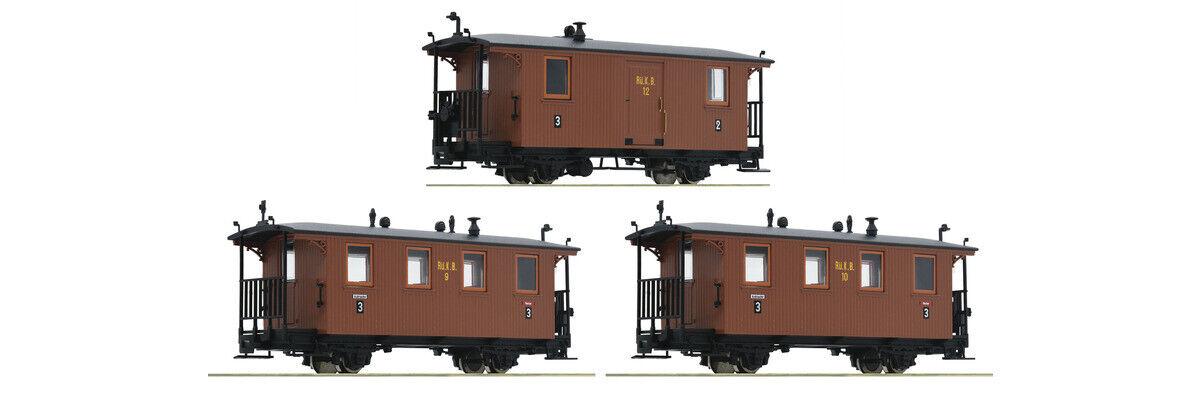 Roco 34043, 3tlg. Set Personenwagen, RüKB, Neu und OVP, H0e