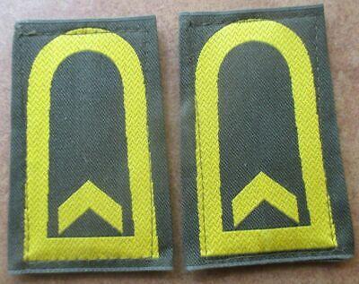 Bundeswehr Rangschlaufen Marine gelb auf Khaki Tropen Oberbootsmann 1paar