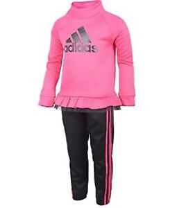 Adidas Girls/' Tricot Zip Jacket and Pant Set sz 6 L@@K
