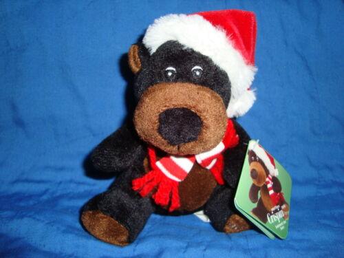 Sears Christmas Plush Beanbag Black Bear 2010 Crispin W/Tags