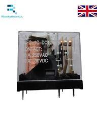 Relé electromagnético de alimentación de bobina de SPDT 12VDC 10A AC/DC montaje de PCB Relé 5 Pines