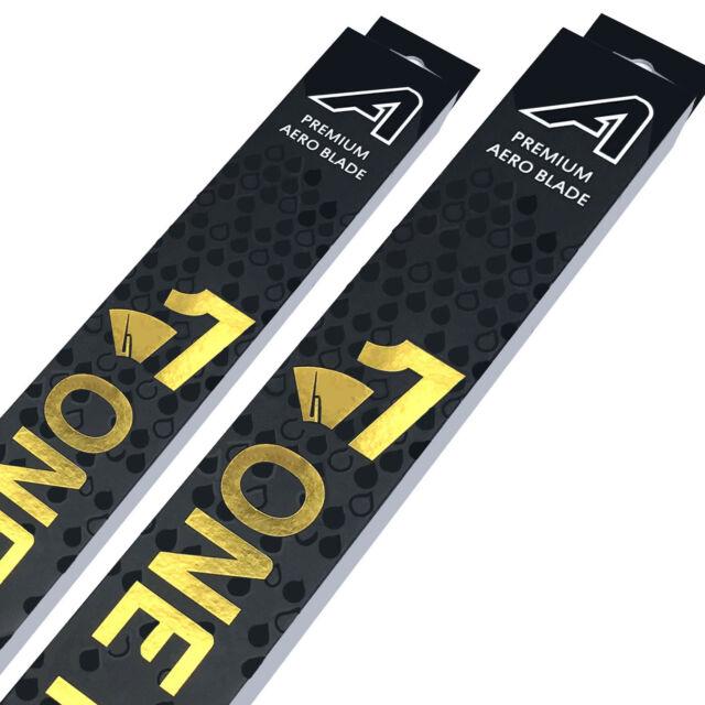 "Front Aero Flat Wiper Blades [PAIR] 16"" + 16"" V2"