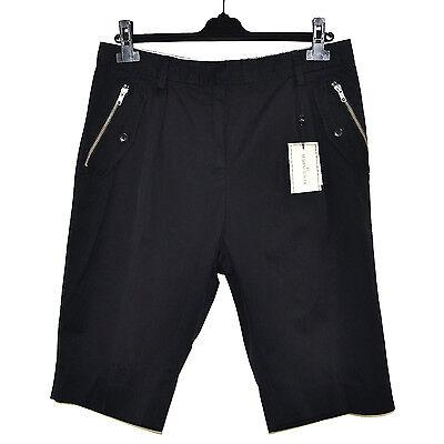 Leale By Malene Birger Short Bermuda Pinces Zips 40fr Ou 42fr Coton Noir Black Pants