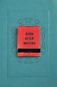 Burn After Writing by Sharon Jones (Paperback / softback, 2015)