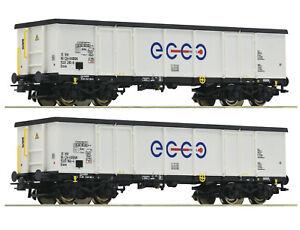 Roco-H0-76731-Ensemble-de-Wagons-Marchandises-034-Ecco-Rail-034-Nouveaute-2020