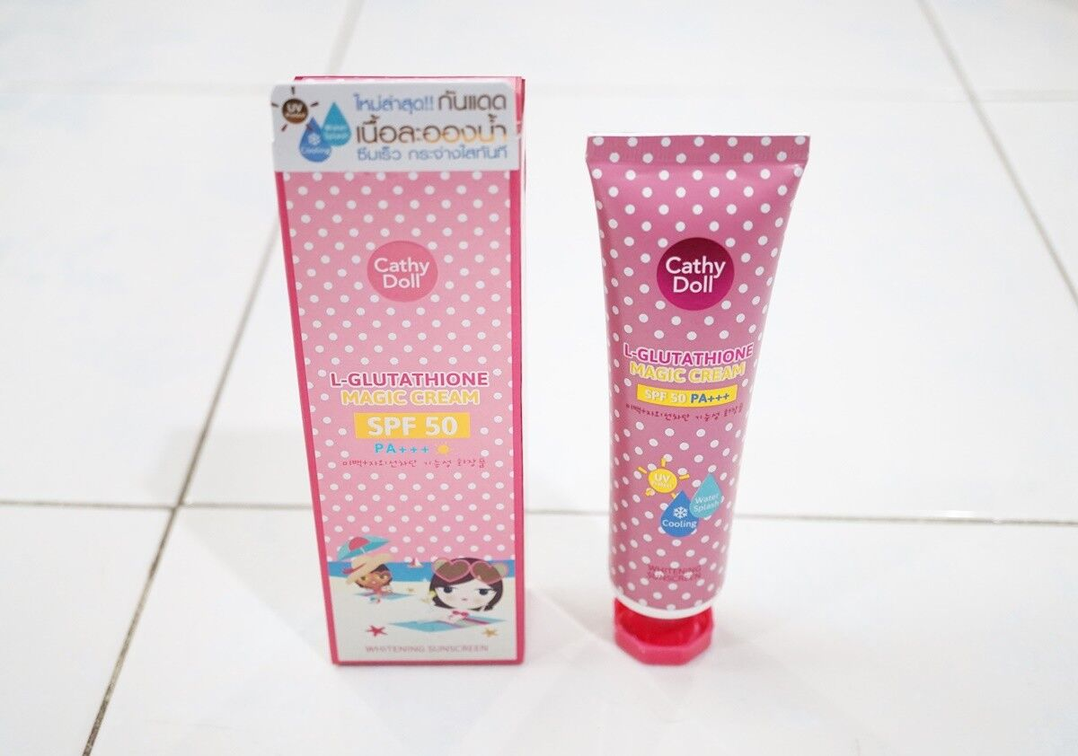 Cathy Doll L-GLUTATHIONE MAGIC CREAM SPF50 PA+++ WHITENING SUNSCREEN 60 ml (2.02fl.oz.)