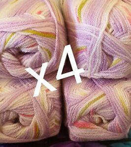 Soft balls glitter acrylic  wool yarn 100gm 360m 8 ply knitting crochet sparkly