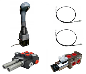 Hydraulikventil Kreuzschaltung Joystick Bowdenzug Frontlader Offen 3-teiliger 40