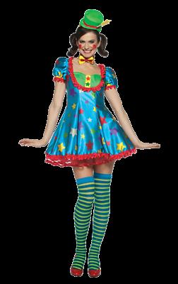 2019 Neuestes Design Womens Star Clown Circus Carnival Fancy Dress Costume