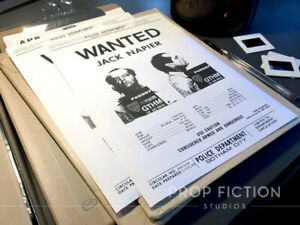 Batman-Pair-of-Prop-Gotham-City-Police-Jack-Napier-Wanted-Posters-Flyers
