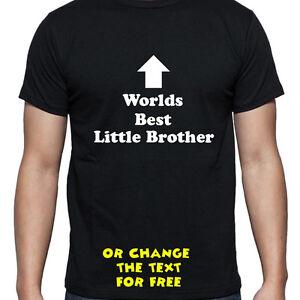 Das Bild Wird Geladen Personalisiert Worlds Best Little Brother T Shirt Geburtstag