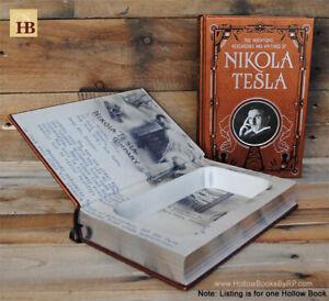 Details About Hollow Book Safe Nikola Tesla Leather Bound Book Safe