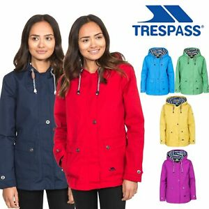Trespass-Womens-Waterproof-Jacket-Hooded-Coast-Raincoat-Size-XXS-XXXL