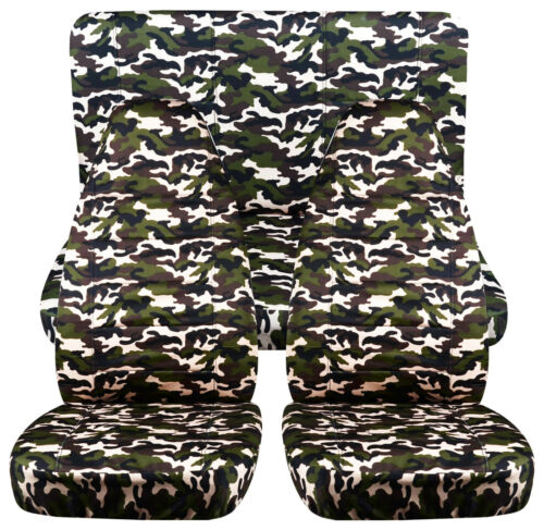 CC Fit Jeep Cherokee Front+Back CAR SEAT COVERS,camouflage design.choose color