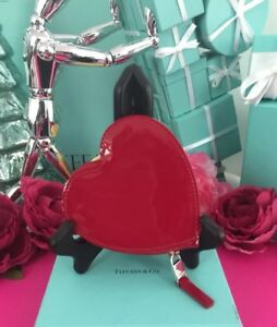 "dc60d7cc6 Tiffany Co. Red Heart Coin Wallet Purse 4""x4"" W Box Mothers Day Gift ..."