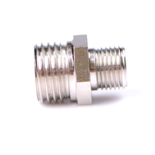1//4/'/' BSP Male to 1//8/'/' BSP Male Airbrush Hose Adaptor Fitting Connector f~e
