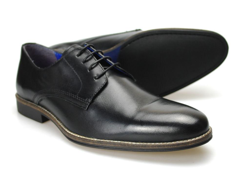 RED TAPE Shannon Negro RU Hombre Zapatos De Cuero RU Negro 6-12 a11abf