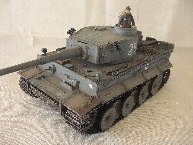 Professionally Painted Tiger I Early RC German Tank 1 16 Scale Heng Long