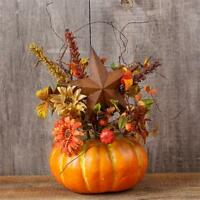 Rustic Primitive Pumpkin Rusty Star Floral Fall Arrangement Centerpiece
