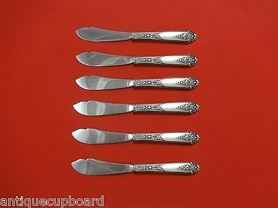 """Hhws Custom 7 1/2"""" Self-Conscious Promise By Royal Crest Sterling Silver Trout Knife Set 6pc Furniture"""