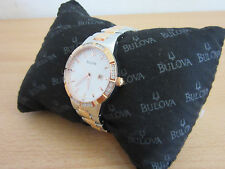 Bulova Accutron Womens Stainless, Gold tone and Diamond wrist watch CLEAN