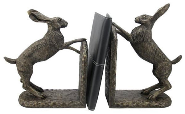 Bookends Bronze Hare  Brand New Boxed