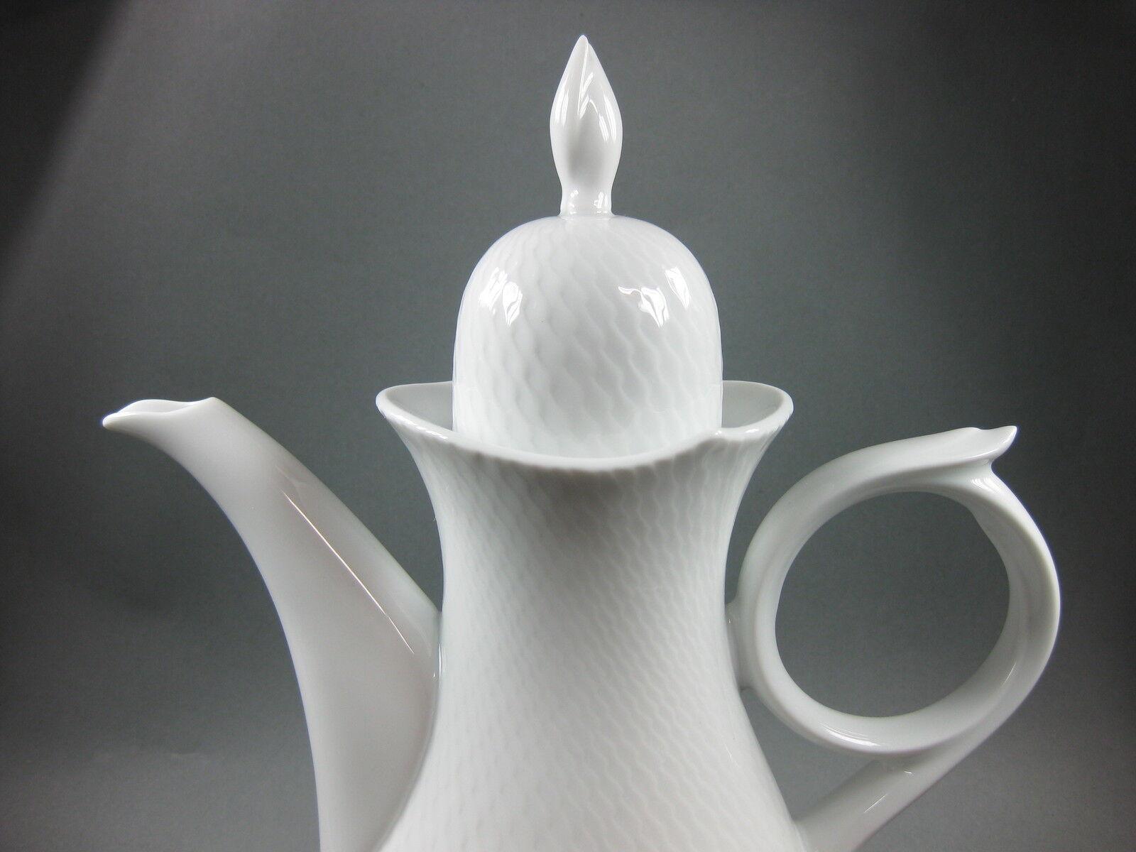 Meissen vagues jeu Blanc Cafetière Cafetière 1 Choix Neuf New