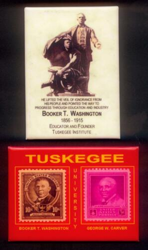 Set of 2 GWC stamp BTW TUSKEGEE UNIVERSITY Magnets