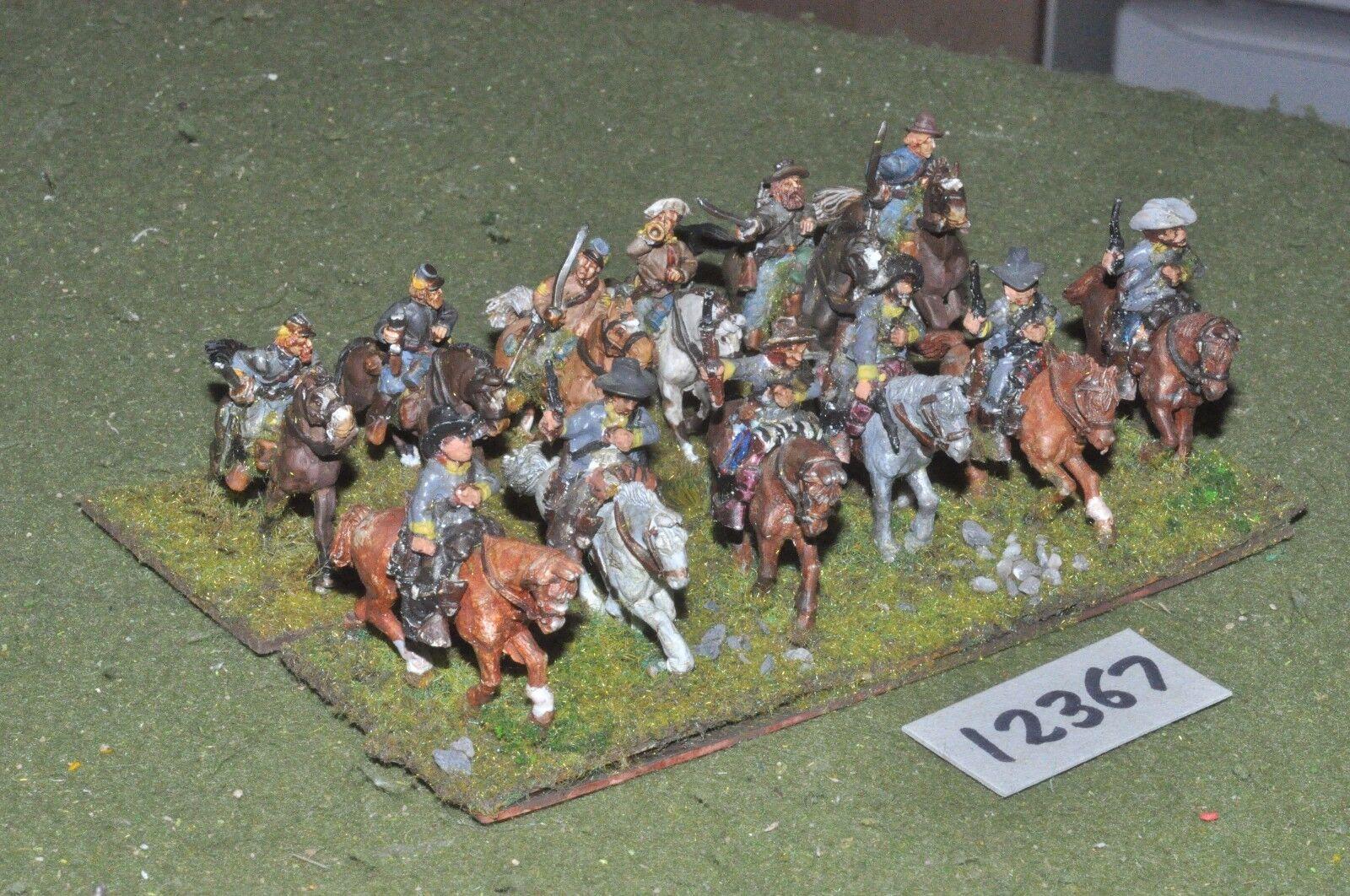 25mm ACW   confederate - american civil war cavalry 12 cavalry - cav (12367)