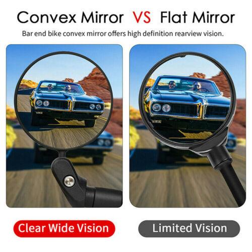 1pcs Mini Rotaty Handlebar Glass Rear view Mirror for Road Bike Bicycle USA