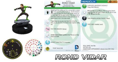 ROND VIDAR GREEN LANTERN CORPS #103 War of Light DC HeroClix