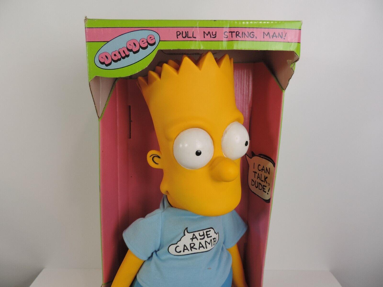 Talking Bart Simpson 18  Pull String Plush Doll Figure Aye Caramba