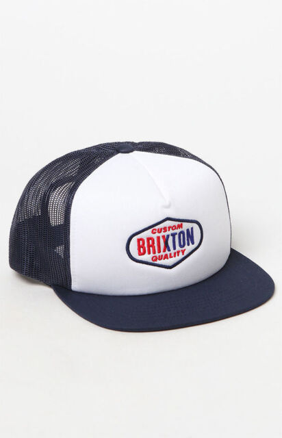 6eead5044435a Brixton Co. Oakland Mesh Trucker Hat Cap White Navy Men Skate Surf ...