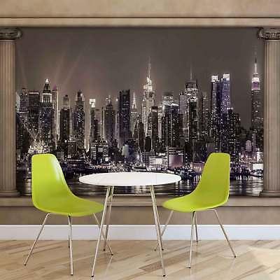 New York City Skyline Urban PHOTO WALLPAPER WALL MURAL ROOM DECOR 1309VEVE