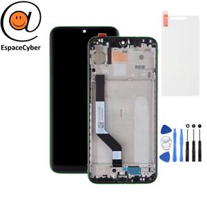 Ecran-LCD-Vitre-tactile-Xiaomi-Redmi-Note-7-Noir-sur-chassis-frame-cadre