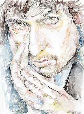 BOB DYLAN Original watercolor portrait painting by Marina Sotiriou