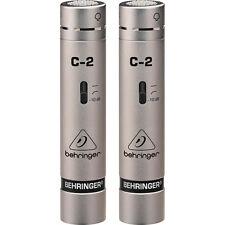 cBehringer C-2 mint Small Diaphragm Condenser Microphone Mic Pair C2