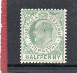 Gibraltar-EV11-1906-11-1-2d-blue-green-sg-66-HH-Mint