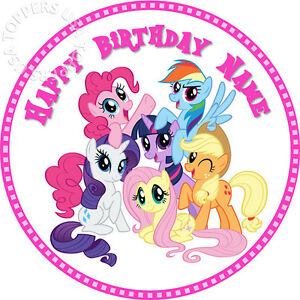 Image Is Loading EDIBLE My Little Pony MLP Birthday Cake Topper