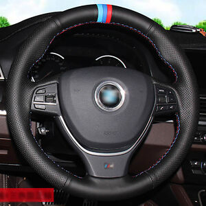 Top Leather Steering Wheel Hand Stitch On Wrap Cover For Bmw F10 3 5