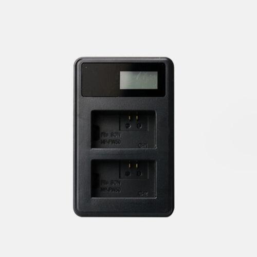 Doble Pantalla LCD NP-FW50 Cargador De Batería Para Cámara Sony A6500 A6300 A6000 A7r