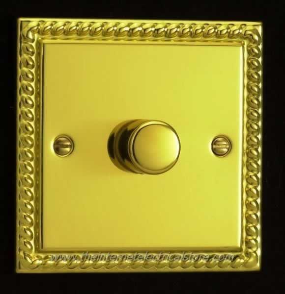 Varilight Georgian Brass Effect  Dimmer Light Switch 1 2 3 4 gang Single//Double