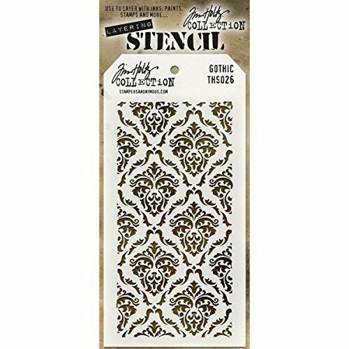 tim holtz layering stencil gothic ths026 stampers anonymous template