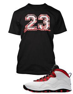 Tee-Shirt-to-Match-Air-Jordan-10-Graduation-Red-Shoe-Custom-Graphic-Tshirt