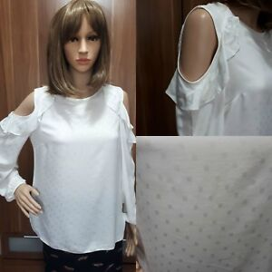 Ex-F-amp-F-Ladies-CREAM-Cold-shoulder-Long-Sleeve-Top-Size-6-22