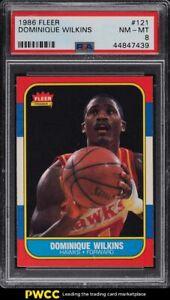 1986-Fleer-Basketball-Dominique-Wilkins-ROOKIE-RC-121-PSA-8-NM-MT